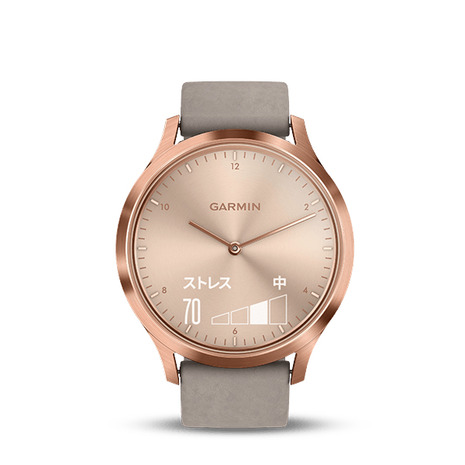 ガーミン(GARMIN) vivomove HR RoseGold GraySuede 185079 (Men's)