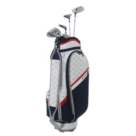 ツアーステージ(TOURSTAGE) TCH88CL キャディバッグ付8本セットゴルフクラブセット NAVY (W#1、W#4、U5、I#7、I#9、PW、SW、PT、キャディバッグ) (Lady's)