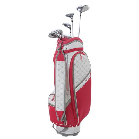 ツアーステージ(TOURSTAGE) TCH88CL キャディバッグ付8本セットゴルフクラブセット PINK (W#1、W#4、U5、I#7、I#9、PW、SW、PT、キャディバッグ) (Lady's)