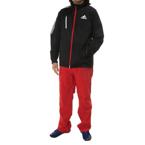 アディダス(adidas) JP CLIMAPROOF レインスーツ 上下セット CCM41-N67730 NV/RD 《B》 (Men's)