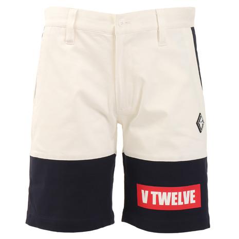 V12 ゴルフウェア メンズ TWO TONE ショートパンツ V121910-PN08-WHT (Men's)