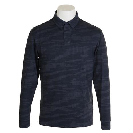 アディダス(adidas) カモフラージュジャカードボタンダウンシャツ FYO90-EH3646インク (Men's)