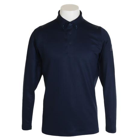 アディダス(adidas) clスクエアプリントボタンダウンシャツ GHS94-EJ7289NV (Men's)