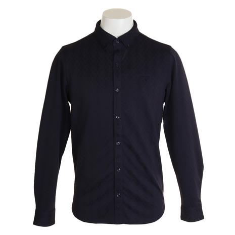 キャロウェイ(CALLAWAY) ネイティブジャカード共襟シャツ 241-9256501-120 (Men's)