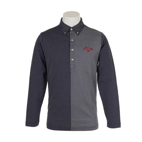 キャロウェイ(CALLAWAY) 19MカットストライプB.Dカラーシャツ 241-9156501-120 (Men's)
