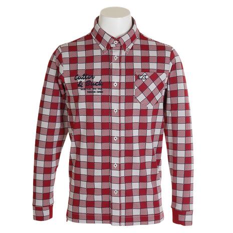 カッターアンドバック(CUTTER&BUCK) 速衣長袖ニットボタンダウンシャツ CGMOJB01-RD00 (Men's)