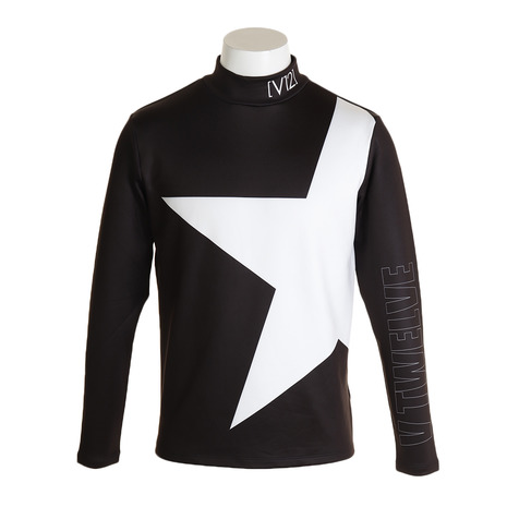V12 モックネック BIG STAR MOCK V121920-CT04-BLK (Men's)