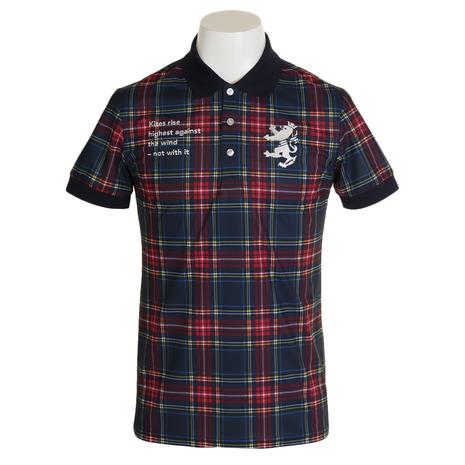 アドミラル(Admiral) タータンチェック ポロシャツ ADMA978-RED (Men's)