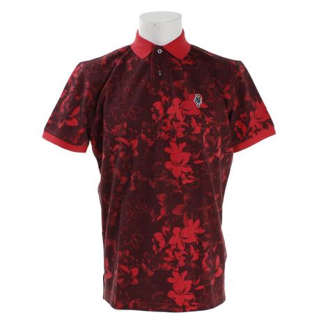 ジェッカーソン(Jackson) ゴルフウェア メンズ フラワーポロシャツ J030035 RED (Men's)