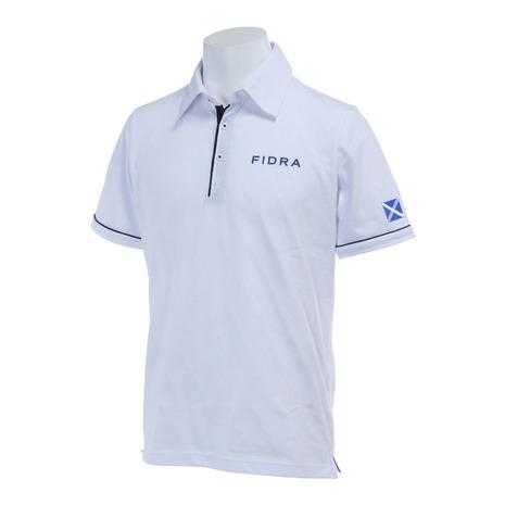 フィドラ(FIDRA) ハンソデポロ (メンズ半袖ポロシャツ) FA110122 WHT (Men's)
