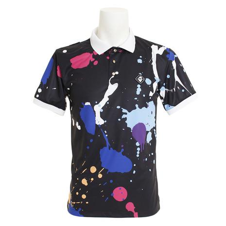 V12 ゴルフウェア メンズ DRIPPING ポロシャツ V121910-CT05-BLK (Men's)
