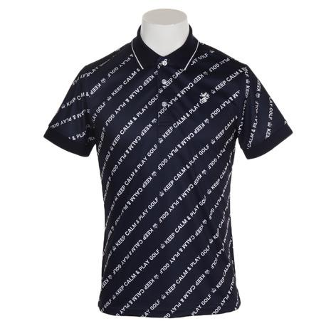 アドミラル(Admiral) バイアスメッセージ ポロシャツ ADMA938-NVY (Men's)