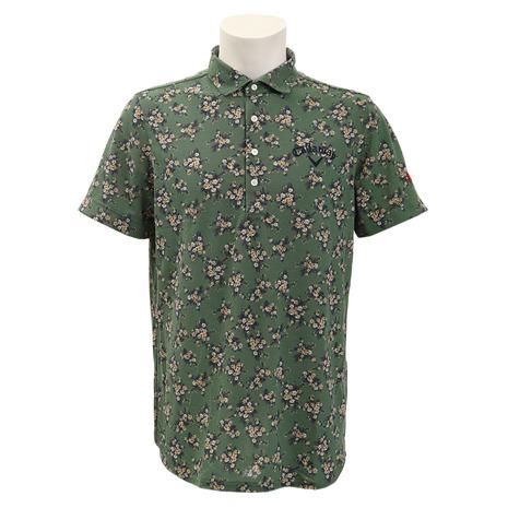 キャロウェイ(CALLAWAY) ゴルフウェア メンズ 花柄プリント レギュラーカラーシャツ 241-9157014-180 (Men's)