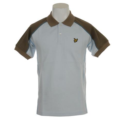 ライルアンドスコット(LYLE&SCOTT) ゴルフウェア メンズ 半袖ポロシャツ LG-18S-P03-SAX  (Men's)