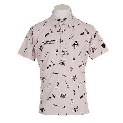 ルコック スポルティフ(Lecoq Sportif) スウィンギングプリント半袖シャツ QGMNJA05-PK00 (Men's)