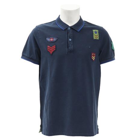 Shockly 半袖ポロシャツ ゴルフウェア Shockly メンズ 半袖ポロシャツ AEREONAUTIC-9B-EUS09 AEREONAUTIC-9B-EUS09 (Men's), calin mia -カランミア-:1d020a18 --- sunward.msk.ru