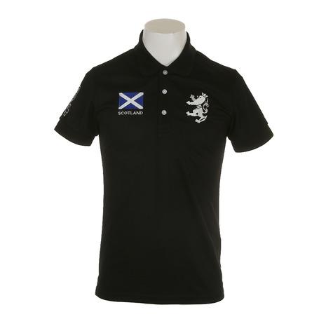 アドミラル(Admiral) ゴルフウェア メンズ フラッグ ポロシャツ ADMA833-BLK (Men's)