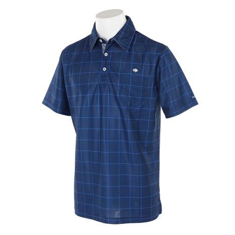 フィドラ(FIDRA) FA110118 ゴルフウェア NVY メンズ ウィンドウペンガラハンソデポロ (メンズ半袖ポロシャツ) FA110118 NVY メンズ (Men's), ブティック フタミ:7423160a --- sunward.msk.ru