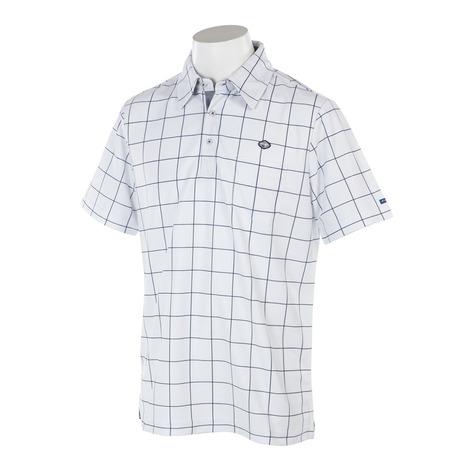 フィドラ(FIDRA) ウィンドウペンガラハンソデポロ (メンズ半袖ポロシャツ) FA110118 WHT (Men's)