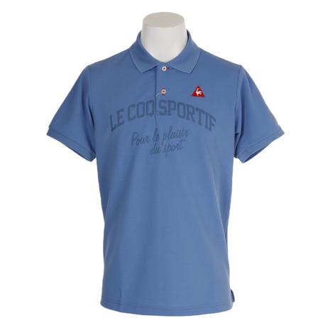 ルコック ゴルフウェア スポルティフ(Lecoq Sportif) (Men's) ゴルフウェア メンズ マナードリネン鹿の子半袖シャツ QGMNJA25-BL00 ルコック (Men's), Belle Vie:b386563f --- sunward.msk.ru