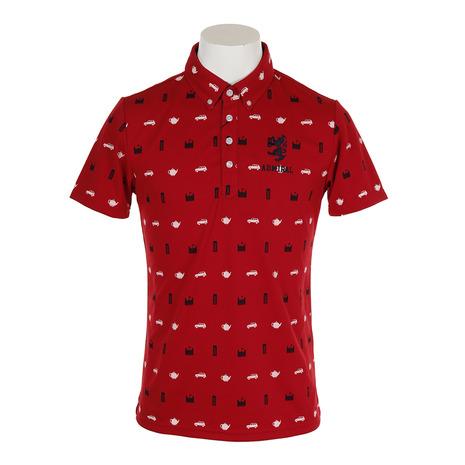 アドミラル(Admiral) ADMA937-RED 総柄アイコン 半袖ボタンダウンシャツ (Men's) ADMA937-RED (Men's), 南条郡:208dddf1 --- sunward.msk.ru