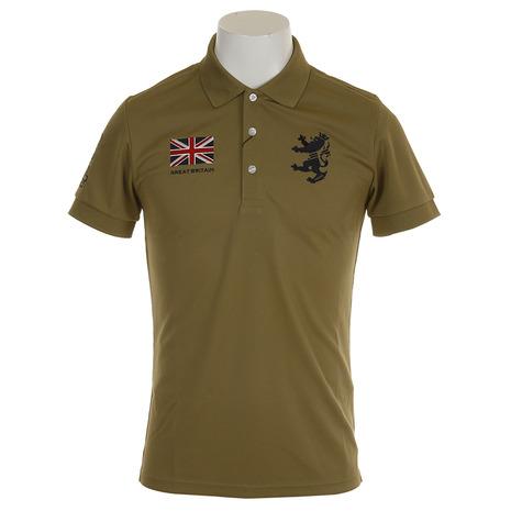 アドミラル(Admiral) ゴルフウェア メンズ フラッグ ポロシャツ ADMA833-OLV (Men's)