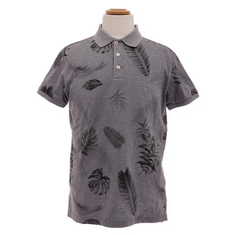 ジャクソン(Jackson) サファリプリントポロシャツ 36PCJUPO02XJ00091 GRY (Men's)