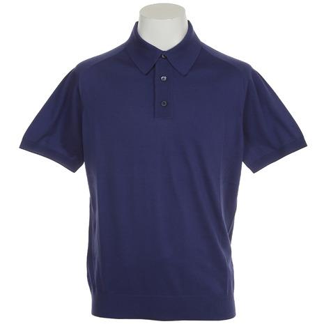 サマス(SAMAS) ゴルフウェア メンズ 半袖ポロシャツ POLO S/slv GNC-U01 BLU (Men's)