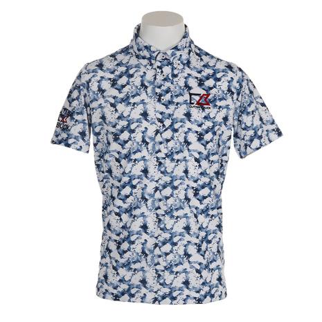 カッターアンドバック(CUTTER&BUCK) 水面柄プリント半袖シャツ CGMNJA09-NV00 (Men's)