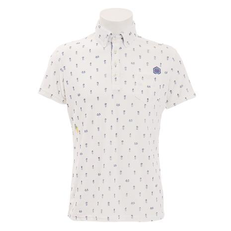 トヴホ(tovho) ゴルフウェア メンズ パインプリント半袖ポロシャツ 21-144302-010 (Men's)