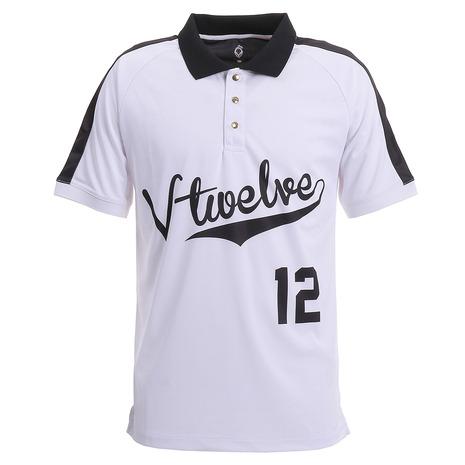 5日限定!ポイント12倍!20:00~23:59エントリー要 V12 BASEBALL 半袖ポロシャツ V122010-CT06-WHT (Men's)