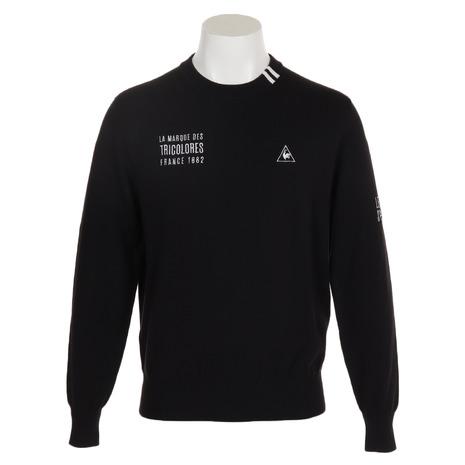 ルコック スポルティフ(Lecoq Sportif) ウォッシャブルクルーネックセーター QGMNJL01-BK00 (Men's)