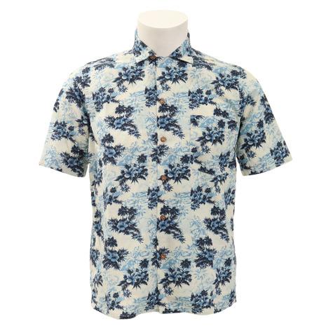 OSVALDO TRUCCHI ゴルフウェア メンズ 前開き半袖シャツ HAWAIIS1972-9B-EUCT02 (Men's)
