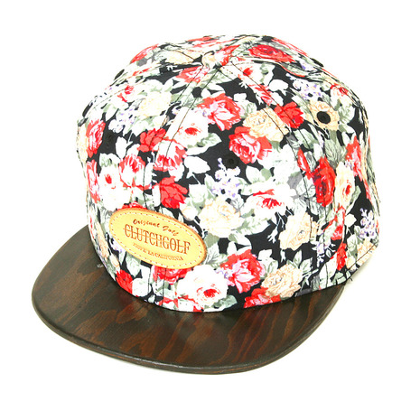 クラッチゴルフ(CLUTCHGOLF) FLORAL WOODEN BRIM 1402-0806-BLACK (Men's)