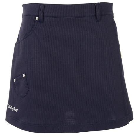 店内全品ポイント+10倍以上!23~25日エントリー要ルコック スポルティフ(Lecoq Sportif) ストレッチワッフル巻きスカート風スカート QGWPJE05-NV00 (Lady's)