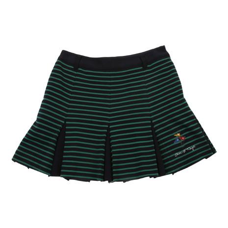 ジュンアンドロぺ(JUN&ROPE) ポンチボーダーBOXプリーツスカート ERC48200-30 (Lady's)