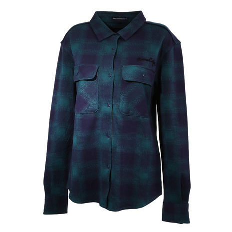ロサーセン(ROSASEN) ジャカードオンブレーチェックシャツ 045-21810-023 (Lady's)