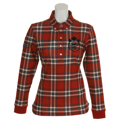 アドミラル(Admiral) タータンチェック L/S BDシャツ ADLA879-RED (Lady's)