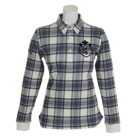 【ポイント最大14倍!0のつく日限定!エントリー要】アドミラル(Admiral) ゴルフウェア レディース タータンチェック L/S BDシャツ ADLA879-WHT (Lady's)
