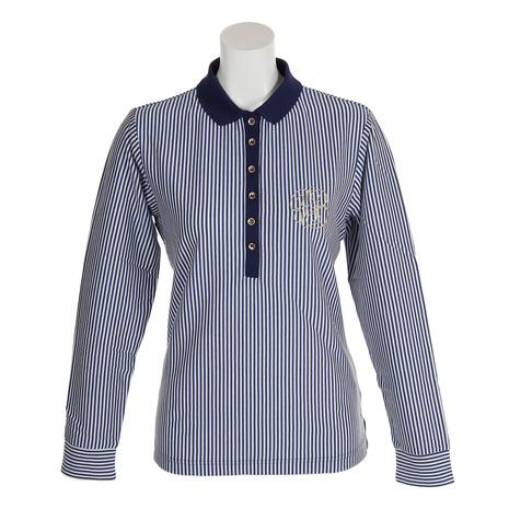 フォーリアブリランテ(FogliaBrillante) ゴルフウェア レディース 長袖ポロシャツ FBAL-LSPO4-NVY (Lady's)
