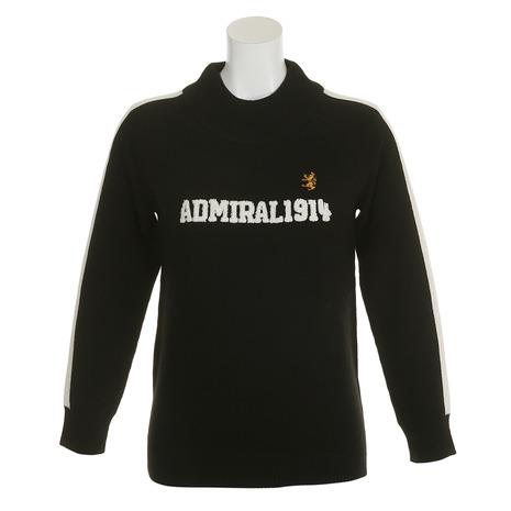 アドミラル(Admiral) ロゴ ハイネックセーター ADLA8S8-BLK (Lady's)
