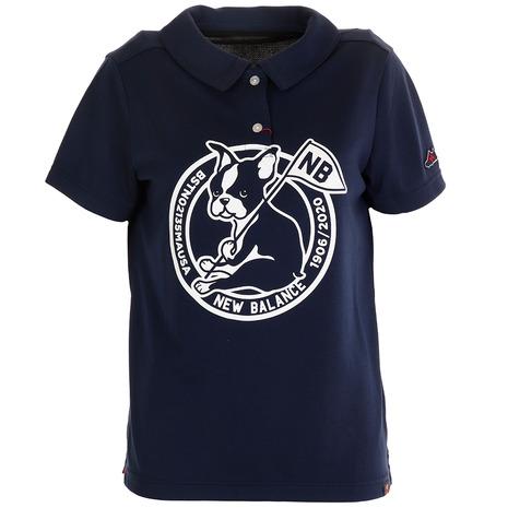 5日限定!ポイント12倍!20:00~23:59エントリー要 ニューバランス(new balance) 半袖カラーシャツ 012-0168504-120 (Lady's)