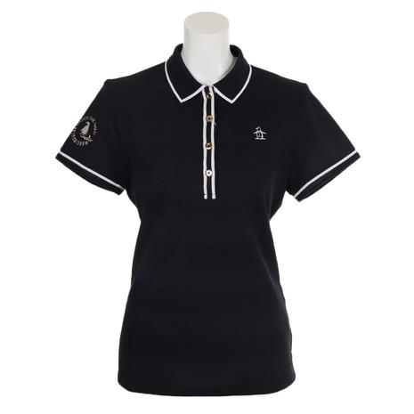 マンシングウエア(MUNSING WEAR) ゴルフウェア レディース フィラシス鹿の子半袖シャツ MGWNGA05-NV00 (Lady's)