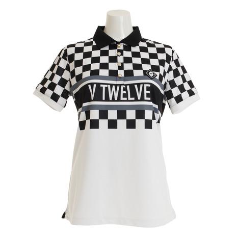 V12 ゴルフウェア レディース VIOR 半袖ポロシャツ V121910L-CT13-BLK (Lady's)