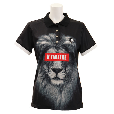 V12 ゴルフウェア レディース LION 半袖ポロシャツ V121910L-CT18-BLK (Lady's)