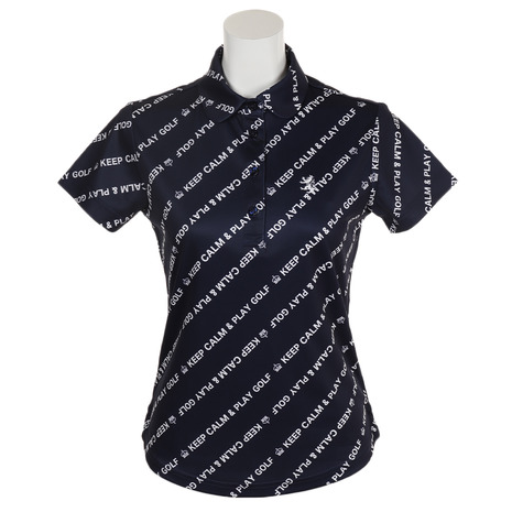 アドミラル(Admiral) バイアスメッセージ 半袖ポロシャツ ADLA933-NVY (Lady's)