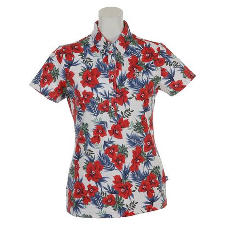 【破格値下げ】 マンシングウエア(MUNSING WEAR) デュアルコンフォートフラワープリント半袖ポロシャツ WEAR) MGWLJA20-WHRD MGWLJA20-WHRD (Lady's) (Lady's), ウブヤマムラ:0b014e5f --- canoncity.azurewebsites.net