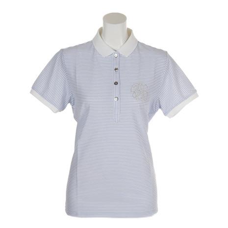フォーリアブリランテ(FogliaBrillante) 半袖ポロシャツ クールマックス FBAL-PO17-WHBU (Lady's)