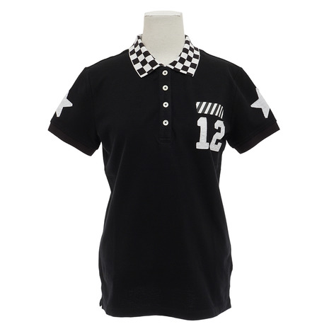 V12 RACING POLO V121820L-CT06-BLK (Lady's)