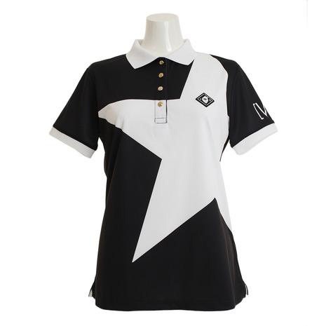 V12 ゴルフウェア レディース BIG STAR 半袖ポロシャツ V121910L-CT24-BLK (Lady's)